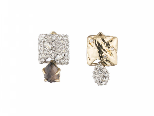 ALEXIS BITTAR Mismatched Gold Plated Earrings by ALEXIS BITTAR