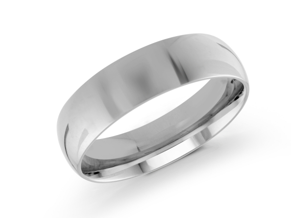 14K White Gold Mens Wedding Band by Gary & David Wedding Band Collection