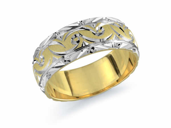 10K Two Tone Design Band by Gary & David Wedding Band Collection